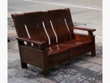 [9成新] 三合二手物流(實木雙人沙發)木製沙發無破損有使用痕跡