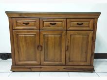 香樟木4尺餐具櫃(送強化玻璃)碗盤櫥櫃全新