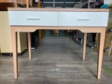 吉田二手傢俱❤雙抽書桌書桌/椅近乎全新
