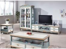 歐式烤綠白9.3尺L櫃37800電視櫃全新