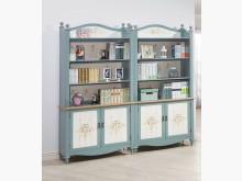 [全新] 歐式烤綠白色書櫃-單座19900書櫃/書架全新