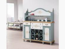 [全新] 歐式烤綠白色餐櫃$19900碗盤櫥櫃全新