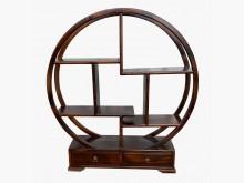 全新雞翅木2抽圓形架*實木家具其它古董家具全新