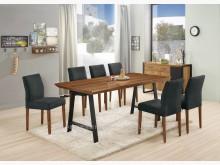 [全新] 2004425-1摩里斯胡桃餐桌餐桌椅組全新