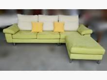 [8成新] A011603*綠色L型布沙發*L型沙發有輕微破損