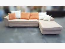 [7成新及以下] A011605*米色L型布沙發*L型沙發有明顯破損