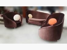 [全新] A011610*咖啡色造型布沙發多件沙發組全新