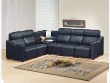 [全新] 時尚傢俱-A全新}L型皮沙發黑紅L型沙發全新