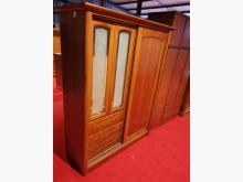 絕對超值原木五尺滑門衣櫃(附鏡)衣櫃/衣櫥無破損有使用痕跡