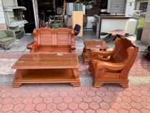 [7成新及以下] 全實木1+2人座+大小茶几沙發組木製沙發有明顯破損
