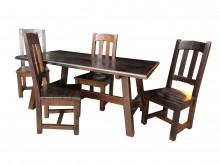 [9成新] 原木一桌四椅*二手中古 餐桌木製沙發無破損有使用痕跡