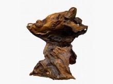 [9成新] 飛天達摩*古董仿古雕刻藝品字畫擺飾無破損有使用痕跡