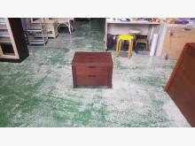 [7成新及以下] 合運二手傢俱~胡桃色床邊櫃床頭櫃有明顯破損