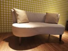 九成新絕美奢華麂皮絨布雙人沙發雙人沙發無破損有使用痕跡