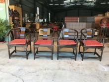 [9成新] 實木太師椅組(含坐墊)其它桌椅無破損有使用痕跡