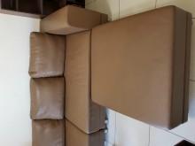 [9成新] 豪華L型真皮沙發L型沙發無破損有使用痕跡