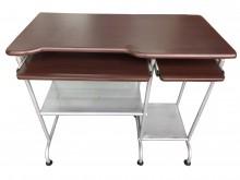 [9成新] 胡桃色電腦桌* 電腦桌 書桌電腦桌/椅無破損有使用痕跡