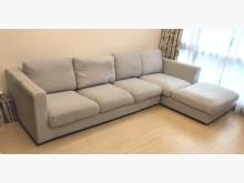 [8成新] 二手細麻布L型沙發 桃園區免運費L型沙發有輕微破損