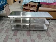 全304三層白鐵工作台H0257其它廚房用品無破損有使用痕跡