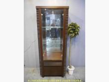 [9成新] 二手胡桃色73公分三層玻璃展示櫃高低櫃無破損有使用痕跡