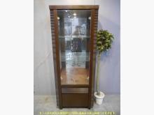 [9成新] 二手胡桃73公分兩層玻璃展示櫃書櫃/書架無破損有使用痕跡