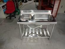 白鐵雙口水槽H02600流理台近乎全新