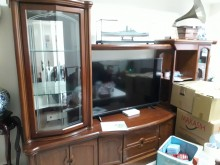 [8成新] 實木酒櫃/電視櫃(自售)整組!電視櫃有輕微破損