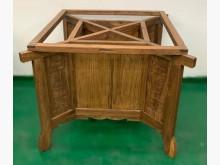 [8成新] 仿古實木餐桌腳餐桌有輕微破損