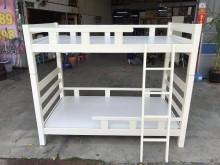 [9成新] 大慶二手家具 3.4尺白色上下舖雙人床架無破損有使用痕跡