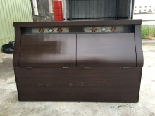 [9成新] 胡桃5尺雙人床頭收納箱櫃床頭櫃無破損有使用痕跡