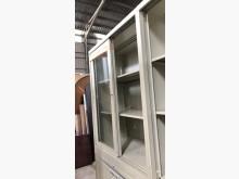[8成新] (二手)三尺玻璃文件櫃-高款辦公櫥櫃有輕微破損