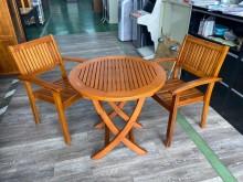 吉田二手傢俱❤新麗屋柚木戶外桌椅其它桌椅近乎全新