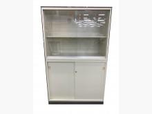 [9成新] 3尺玻璃鐵櫃 * 公文櫃 資料櫃辦公櫥櫃無破損有使用痕跡