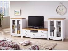 [全新] 艾菈法式柚木白色電視櫃32900電視櫃全新