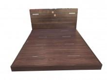 胡桃色5尺床架 附床頭*雙人床架無破損有使用痕跡