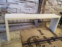 多功能百搭雪白長几 展示桌其它家具無破損有使用痕跡