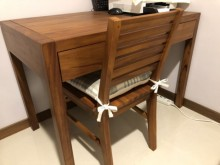 [95成新] 詩肯柚木質感全柚木餐椅/書桌椅書桌/椅近乎全新