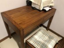 [9成新] 詩肯柚木質感全柚木書桌書桌/椅無破損有使用痕跡