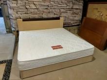 白橡木QueenSize加大雙箱雙人床架近乎全新