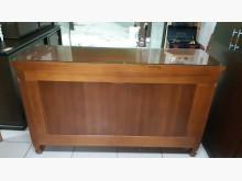 [95成新] 九成新香檜全實木5尺玻璃櫥櫃碗盤櫥櫃近乎全新