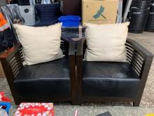 [8成新] 單人座椅*2 三重二手家具木製沙發有輕微破損