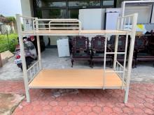 [全新] 全新品 灰白色單人3尺角管雙層床單人床架全新