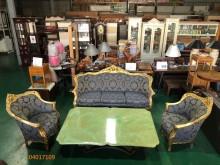 [9成新] 二手/中 古宮廷風客廳組多件沙發組無破損有使用痕跡