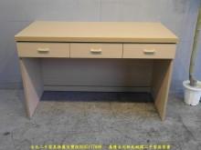 [9成新] 二手白橡色121公分三抽書桌書桌/椅無破損有使用痕跡