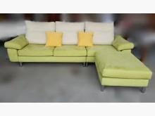 [7成新及以下] 綠色L型布沙發L型沙發有明顯破損
