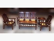 [8成新] 木製沙發組3+1+1+茶几木製沙發有輕微破損