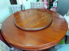[8成新] [八成新]圓木餐桌附餐椅餐桌有輕微破損