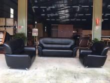 [全新] 大鑫 全新黑乳膠3+2+1沙發多件沙發組全新