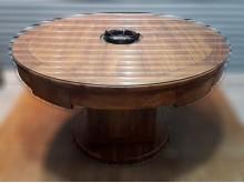 [8成新] K0409AJJA柚木單孔火鍋桌餐桌有輕微破損