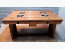 [8成新] 柚木4孔火鍋桌餐桌有輕微破損